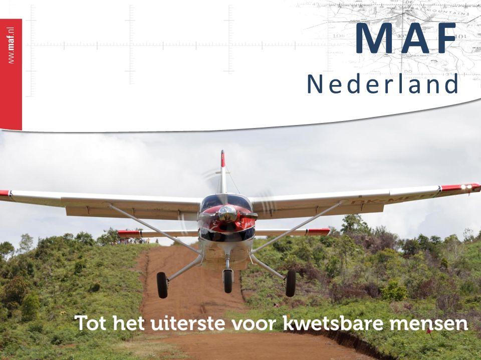 MAF is:  'Gods Woord en Liefde verspreiden met Vliegdiensten'  Partner voor 1000 (hulp)organisaties en kerken (bijv.