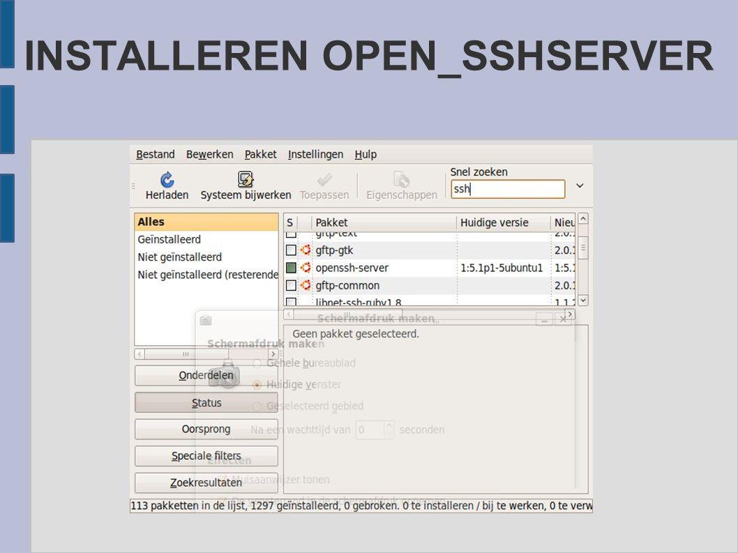INSTALLEREN OPEN_SSHSERVER