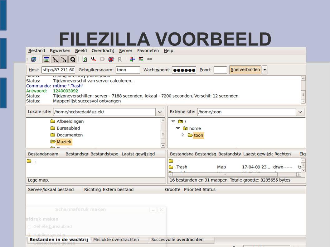 FILEZILLA VOORBEELD