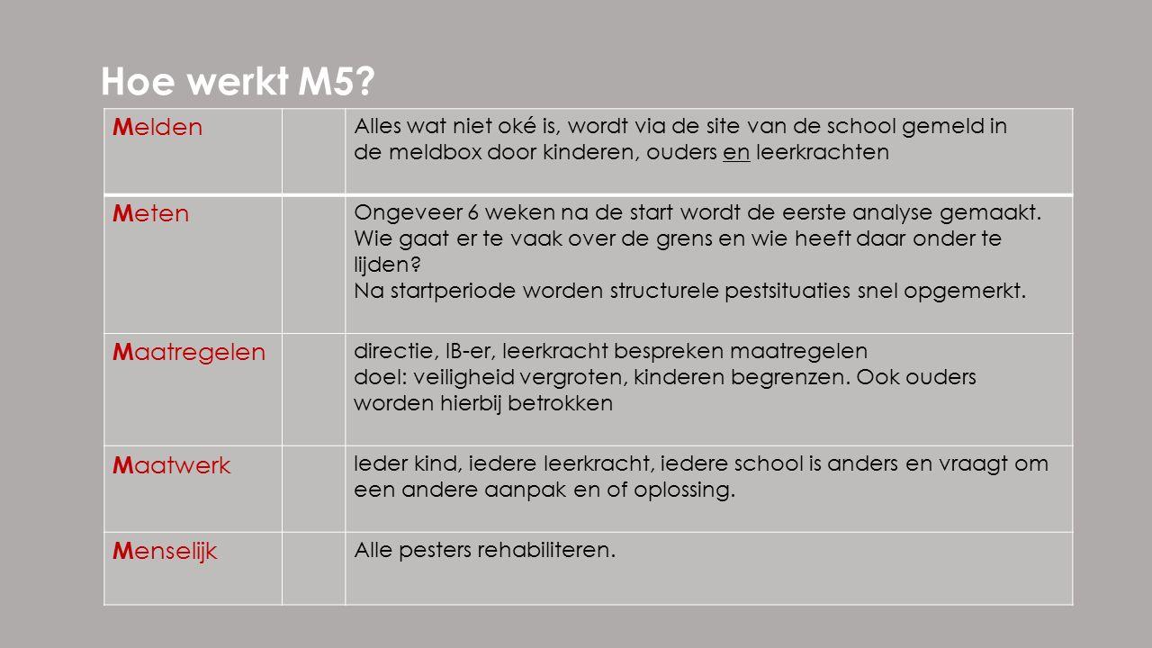 Hoe werkt M5.