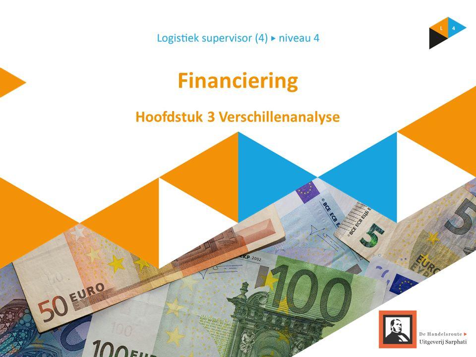 Financiering Hoofdstuk 3 Verschillenanalyse