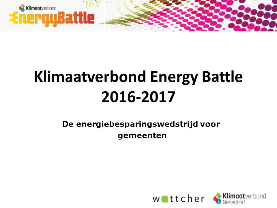 De energiebesparingswedstrijd voor gemeenten Klimaatverbond Energy Battle 2016-2017