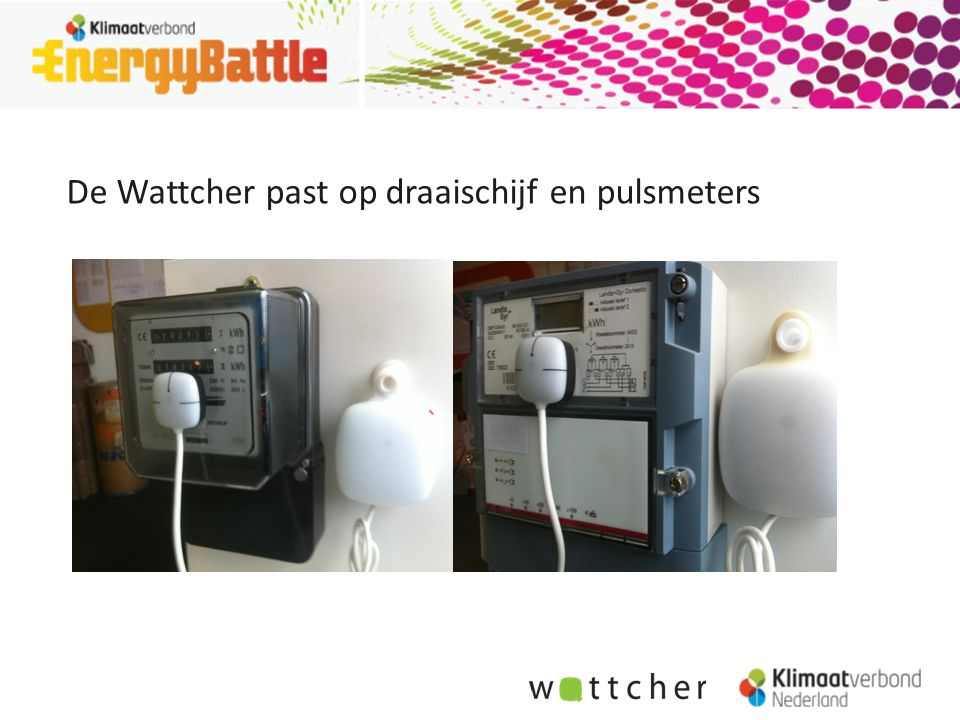 De Wattcher past op draaischijf en pulsmeters
