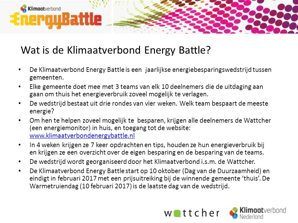 Wat is de Klimaatverbond Energy Battle.