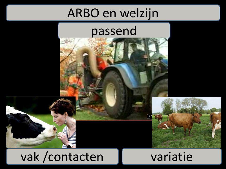 ARBO en welzijn passend variatievak /contacten