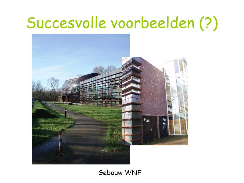 Succesvolle voorbeelden (?) Gebouw WNF
