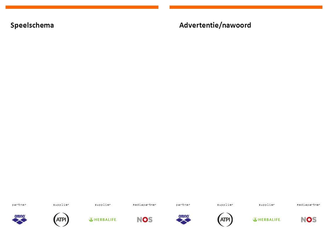 partnersupplier mediapartnerpartnersupplier mediapartner Advertentie/nawoordSpeelschema