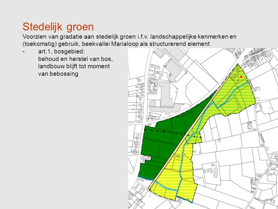 Stedelijk groen Voorzien van gradatie aan stedelijk groen i.f.v.