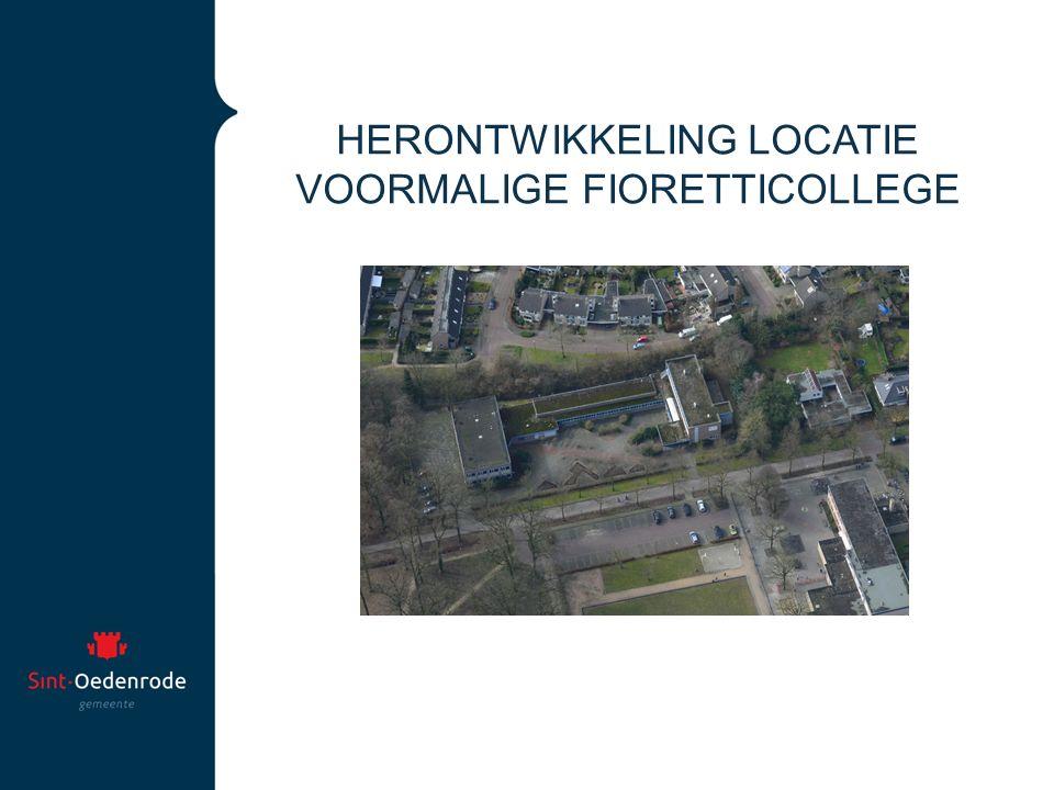 HERONTWIKKELING LOCATIE VOORMALIGE FIORETTICOLLEGE