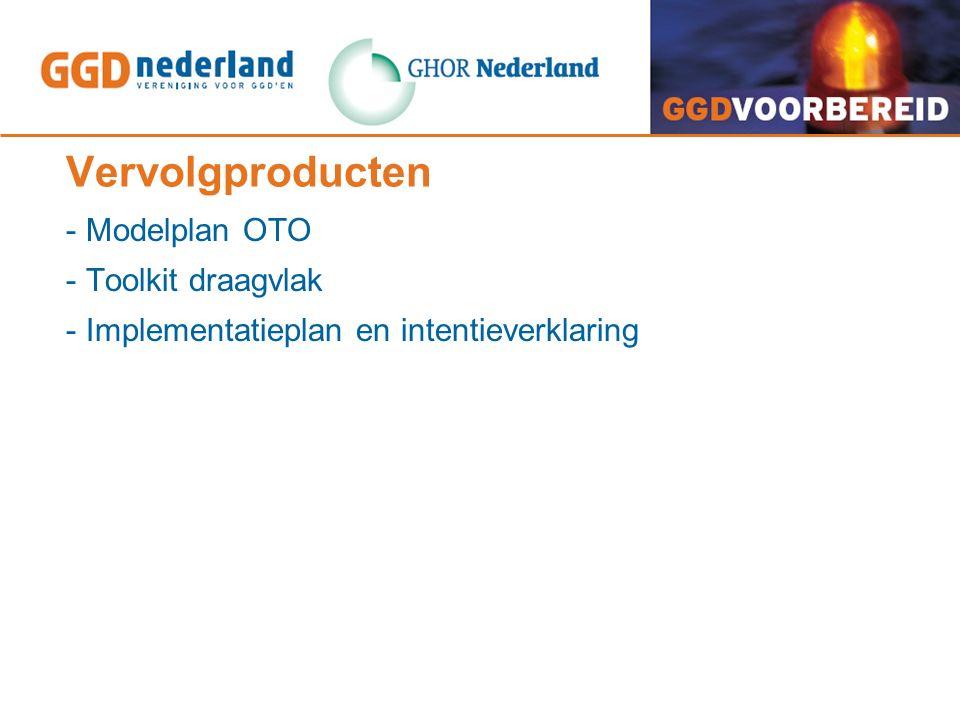 Vervolgproducten - Modelplan OTO - Toolkit draagvlak - Implementatieplan en intentieverklaring