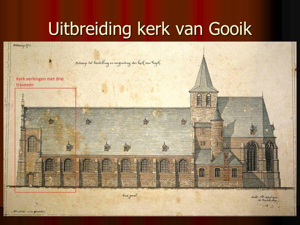 Uitbreiding kerk van Gooik