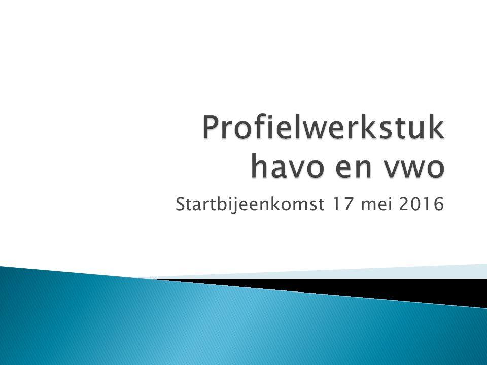 Startbijeenkomst 17 mei 2016