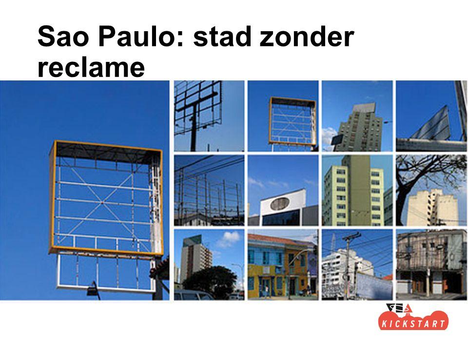 Sao Paulo: stad zonder reclame
