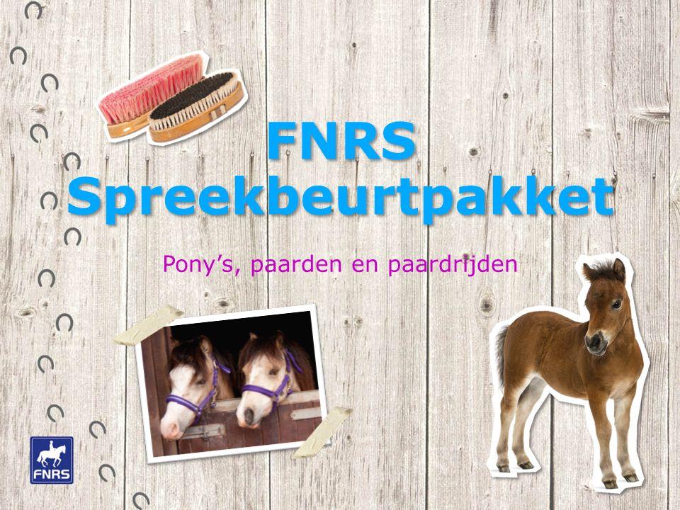 FNRS Spreekbeurtpakket Pony's, paarden en paardrijden