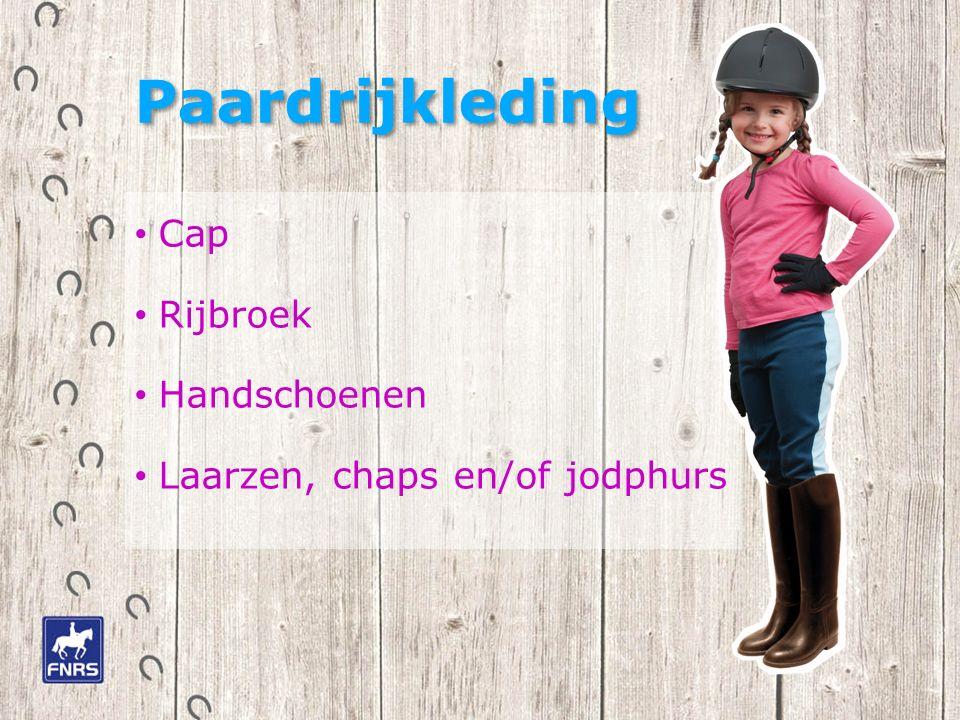 Paardrijkleding Cap Rijbroek Handschoenen Laarzen, chaps en/of jodphurs