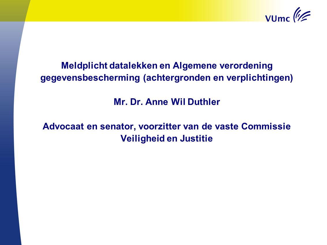 Meldplicht datalekken en Algemene verordening gegevensbescherming (achtergronden en verplichtingen) Mr.