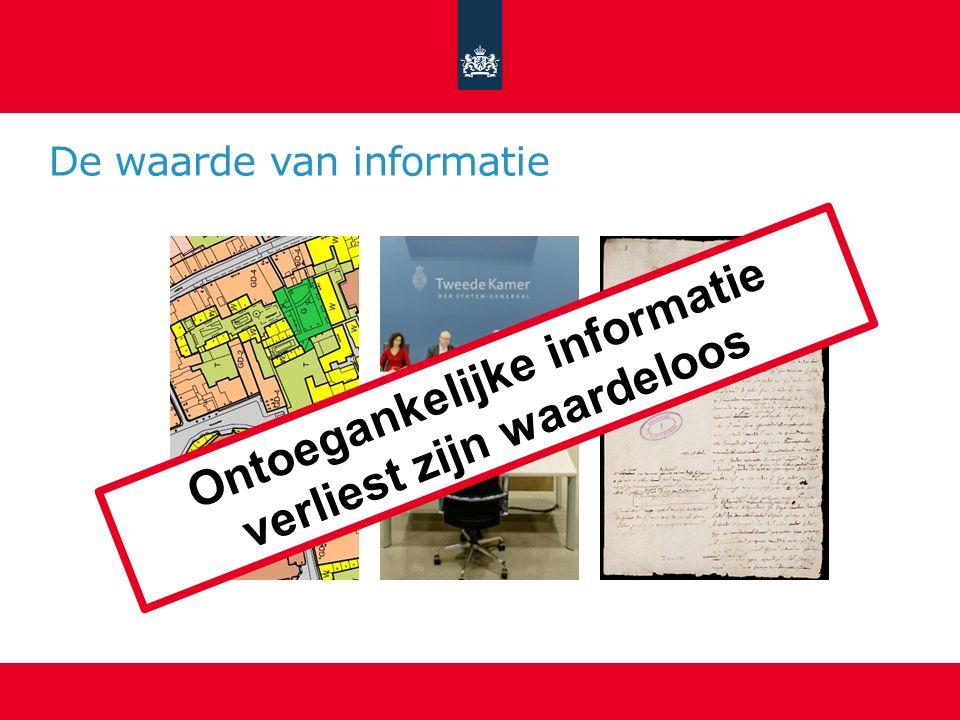 De waarde van informatie Ontoegankelijke informatie verliest zijn waardeloos