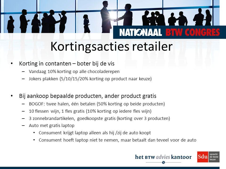 Kortingsacties retailer Korting in contanten – boter bij de vis – Vandaag 10% korting op alle chocoladerepen – Jokers plakken (5/10/15/20% korting op