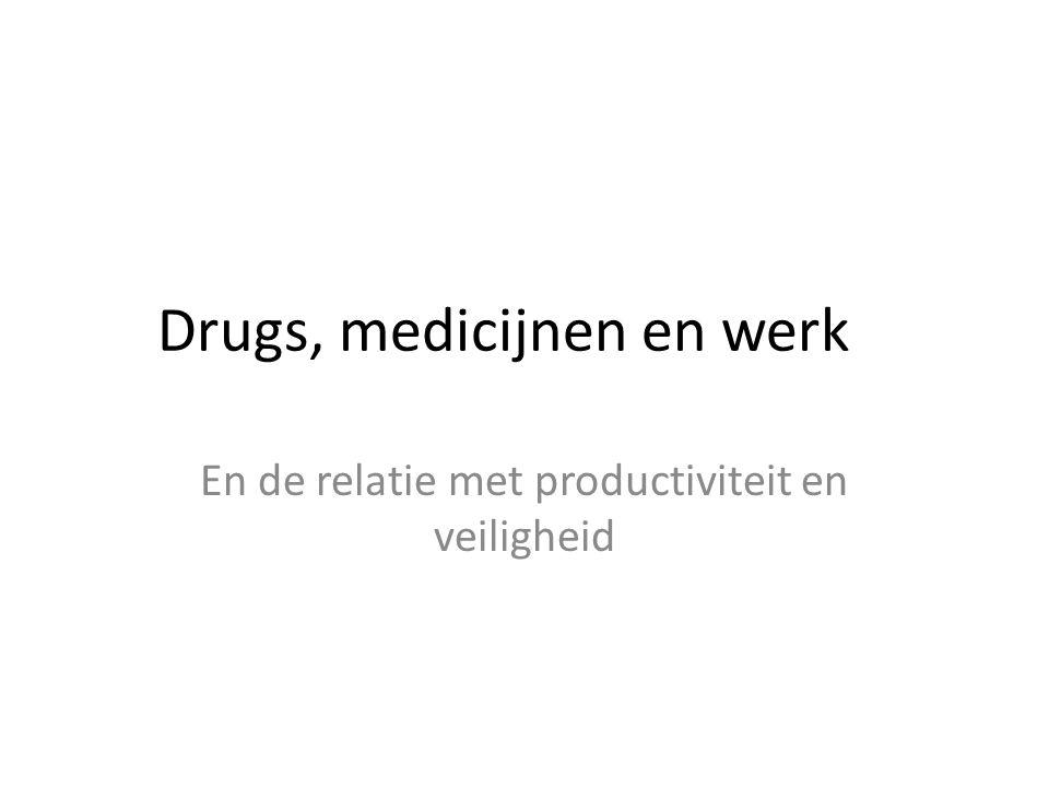 Drugs, medicijnen en werk En de relatie met productiviteit en veiligheid