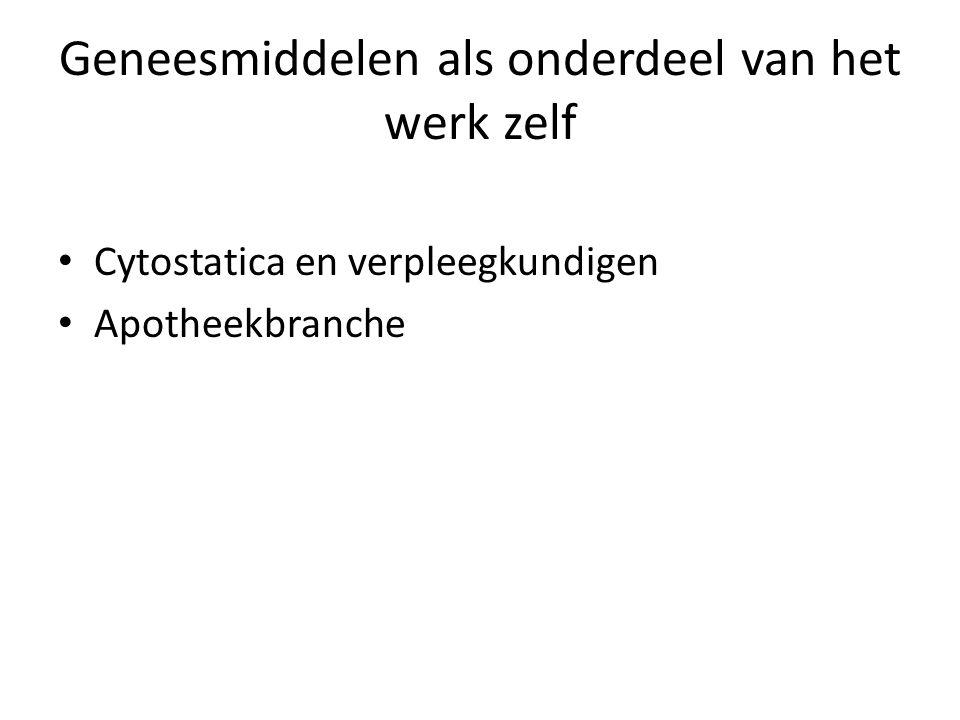Geneesmiddelen als onderdeel van het werk zelf Cytostatica en verpleegkundigen Apotheekbranche