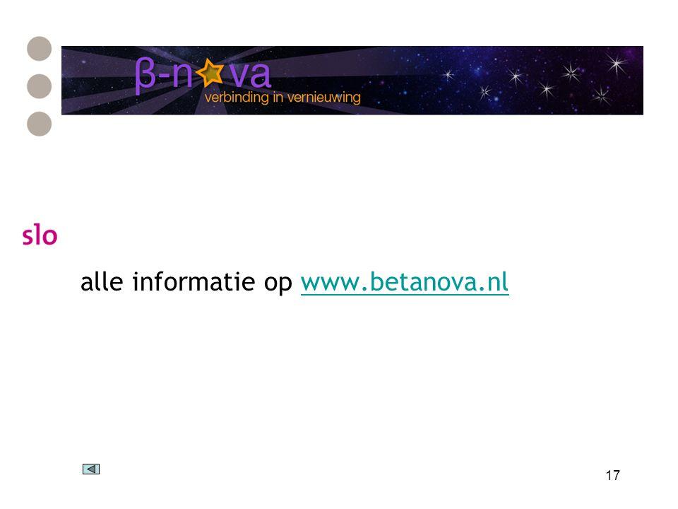 17 alle informatie op www.betanova.nlwww.betanova.nl