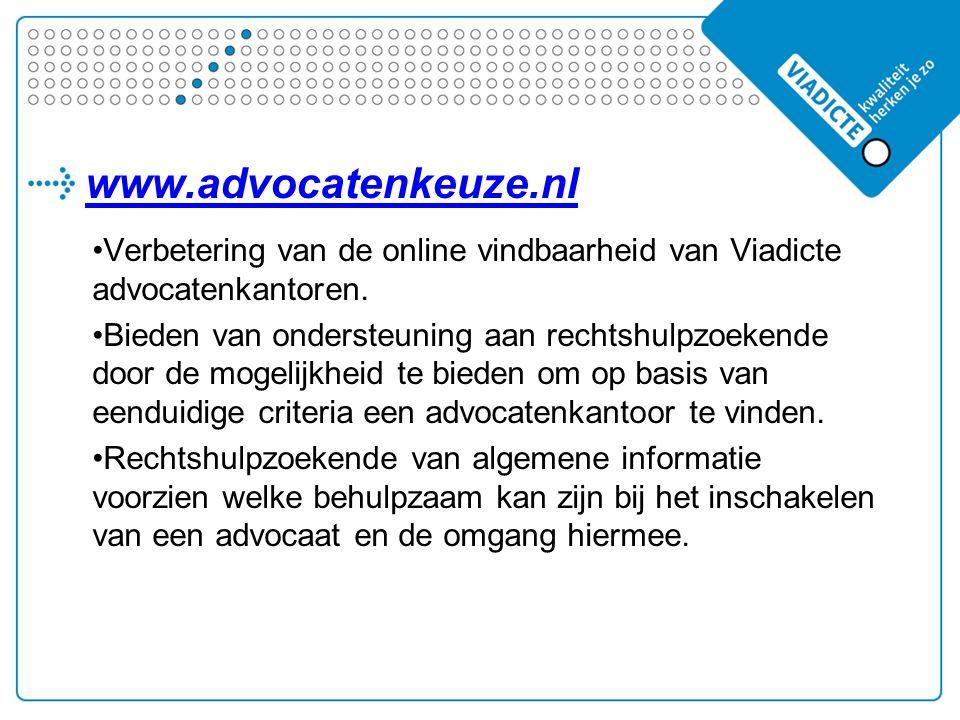 Verbetering van de online vindbaarheid van Viadicte advocatenkantoren.
