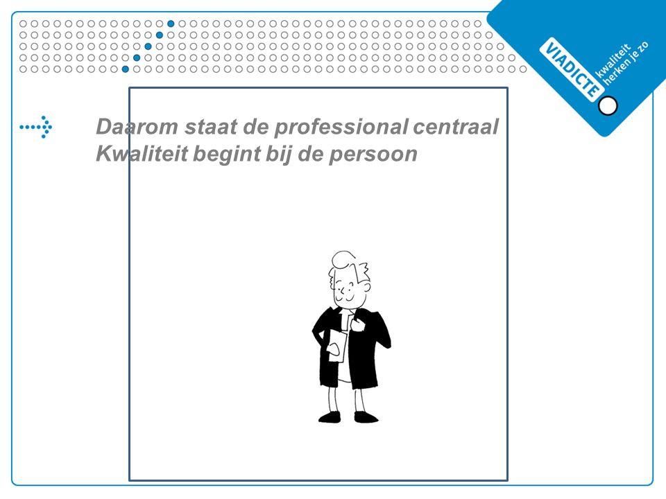 Daarom staat de professional centraal Kwaliteit begint bij de persoon