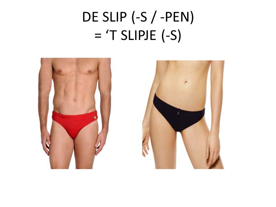 DE SLIP (-S / -PEN) = 'T SLIPJE (-S)