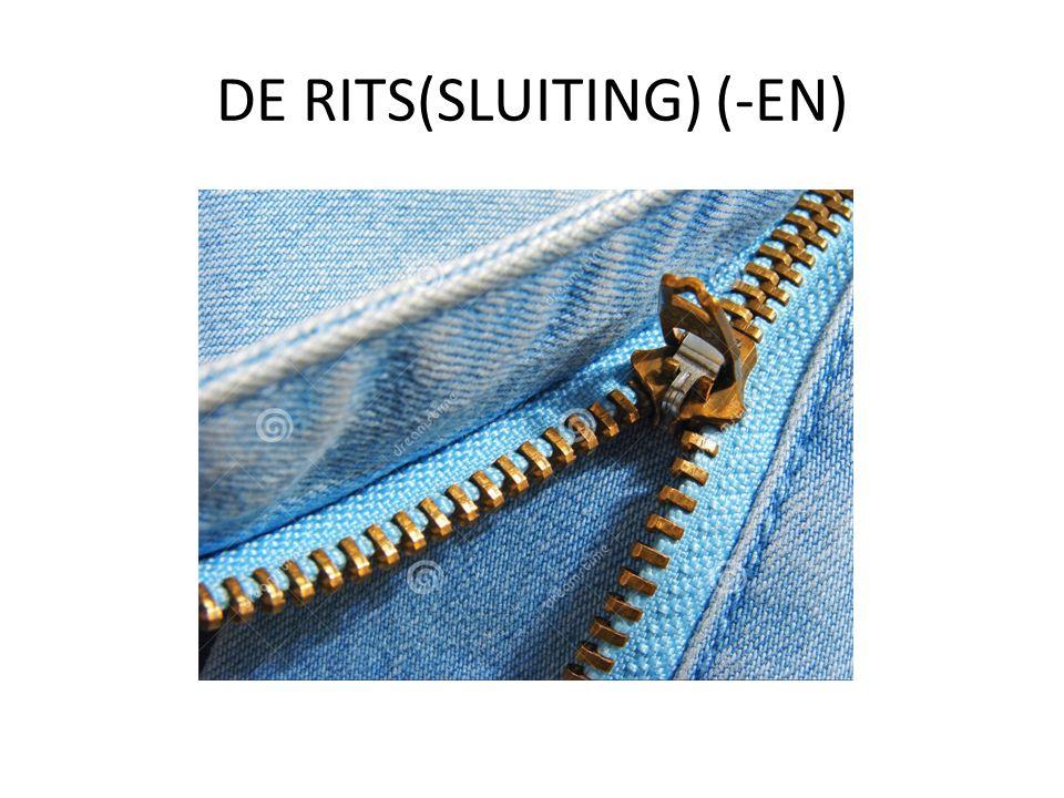 DE RITS(SLUITING) (-EN)