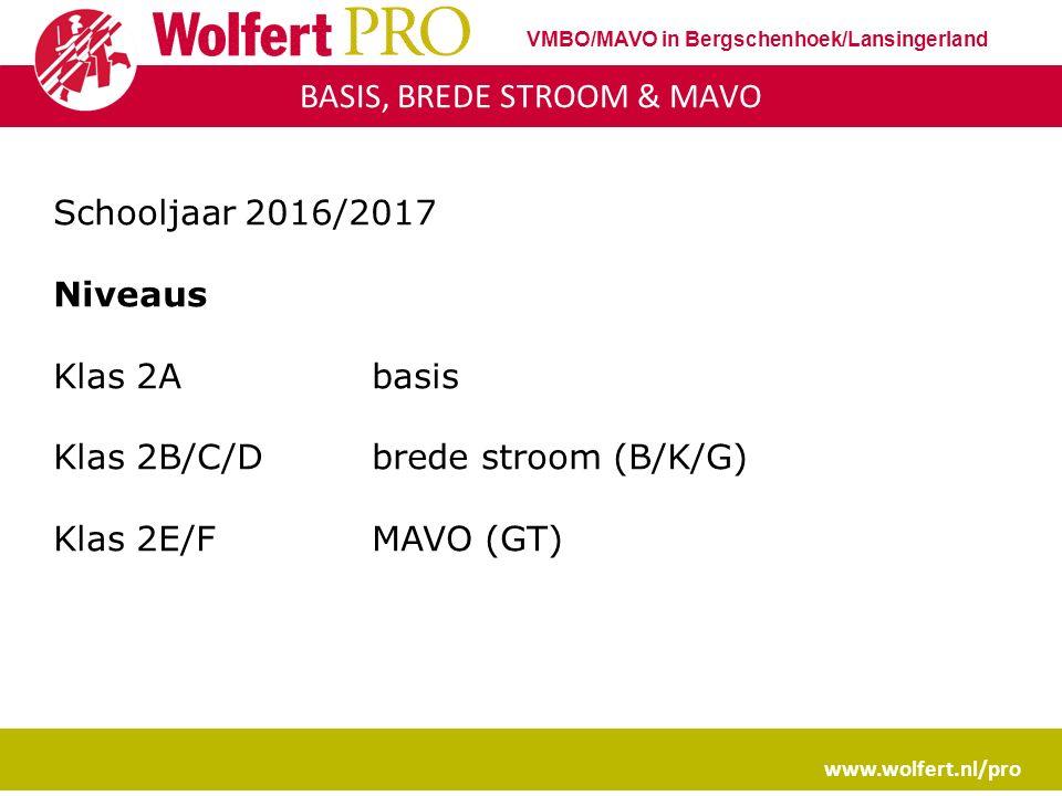 Leerjaar 2 BKGT www.wolfert.nl/pro VMBO/MAVO in Bergschenhoek/Lansingerland Determinatiejaar Besluit voor bovenbouw BBL / KBL / GL/TL (mavo) Stappen 1.