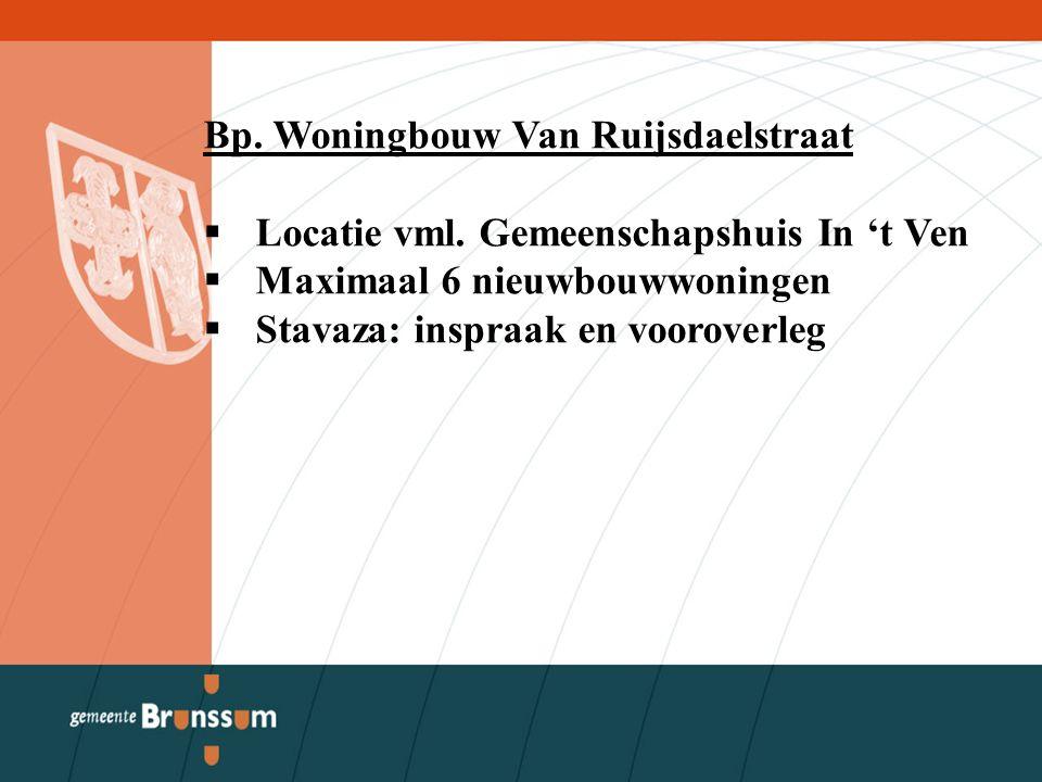 Bp. Woningbouw Van Ruijsdaelstraat  Locatie vml.