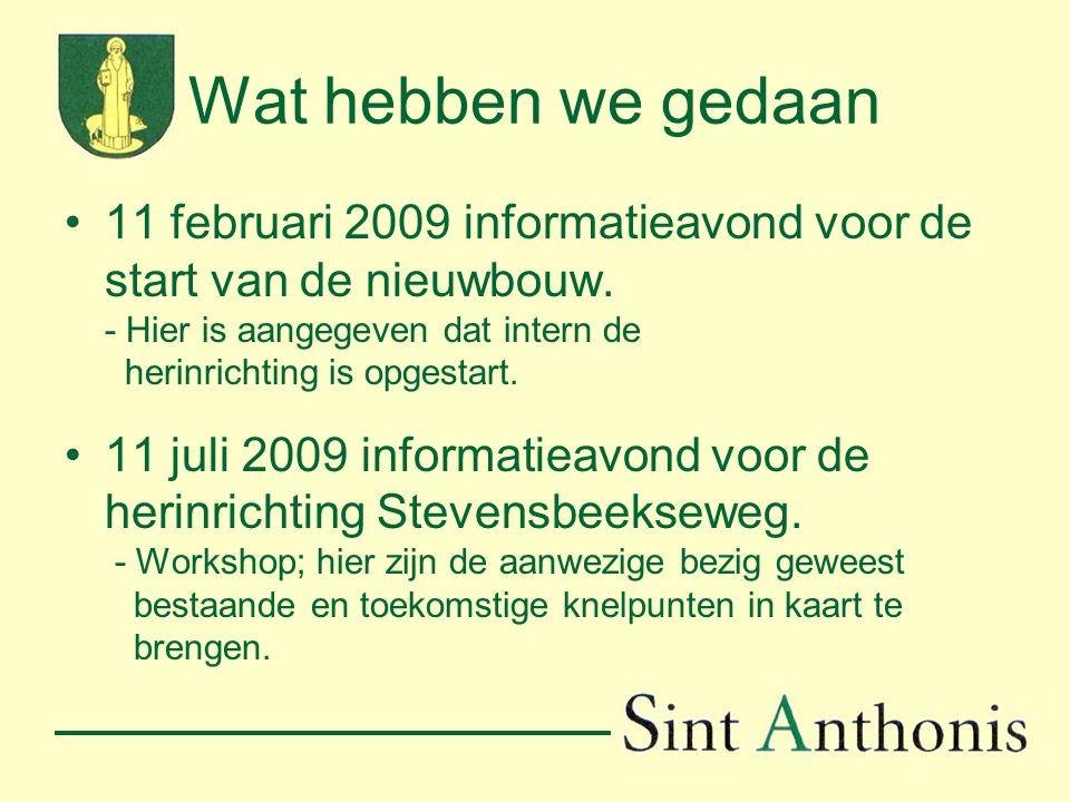 Wat hebben we gedaan(vervolg) 22 september 2009 2 e informatieavond herinrichting Stevensbeekseweg.