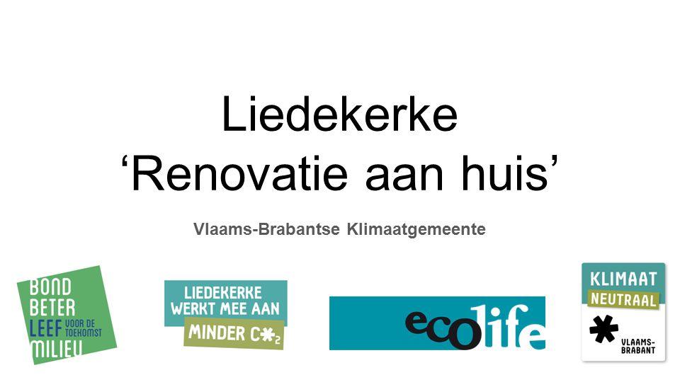 Liedekerke 'Renovatie aan huis' Vlaams-Brabantse Klimaatgemeente
