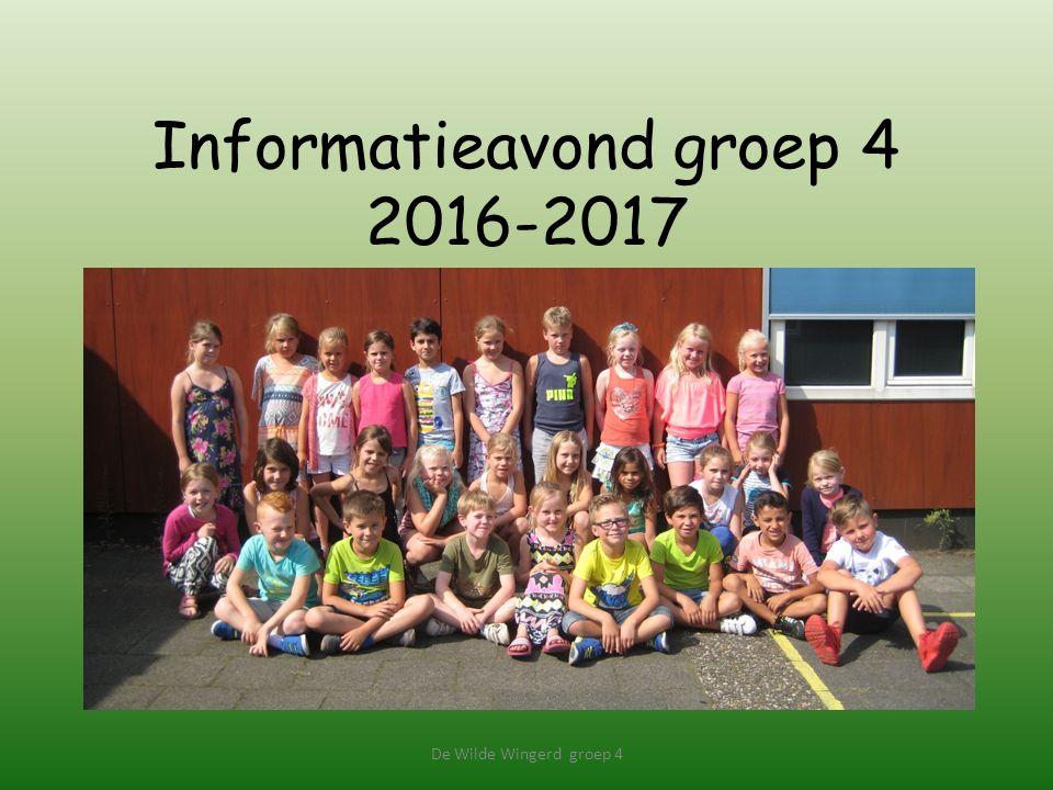 Informatieavond groep 4 2016-2017 De Wilde Wingerd groep 4