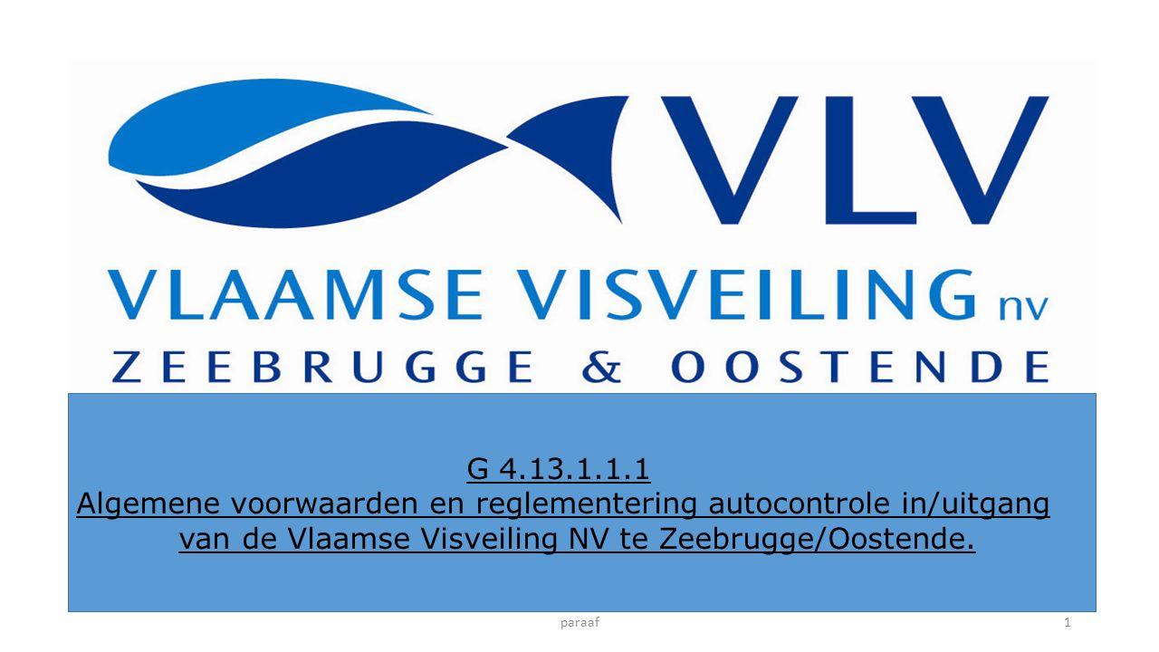 Beste, De Vlaamse Visveiling NV te Zeebrugge/Oostende, wil u bij deze graag informeren over een noodzakelijke maatregel in het kader van het verder verbeteren van onze dienstverlening : Vanaf 01/09/2016 zal de toegang tot de gebouwen in Zeebrugge en Oostende enkel nog mogelijk zijn wanneer u in het bezit bent van een persoonlijke toegangsbadge.