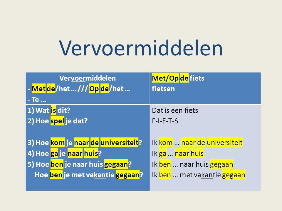 Te voet (= Lopend [NL])