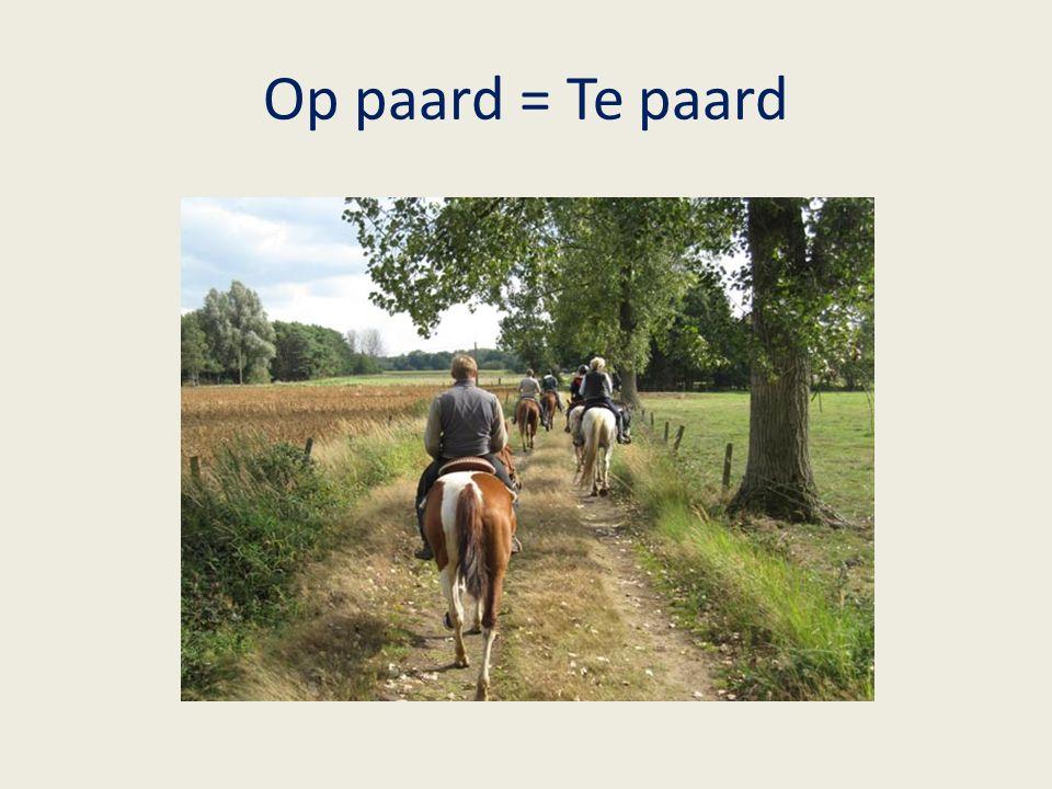 Op paard = Te paard