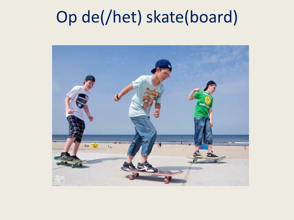 Op de(/het) skate(board)
