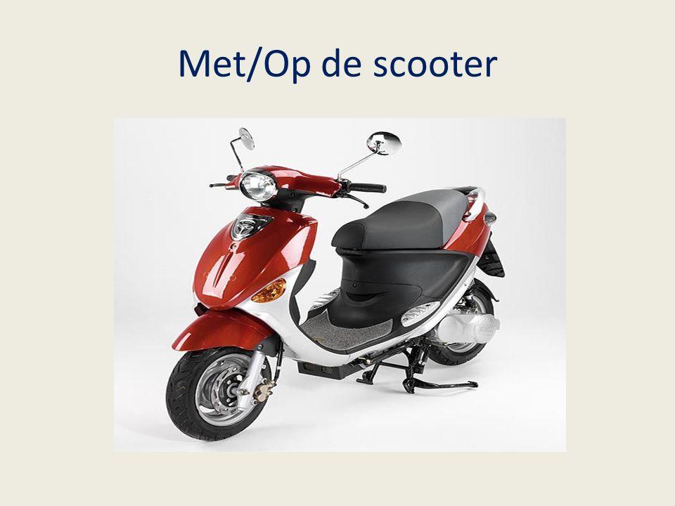 Met/Op de scooter