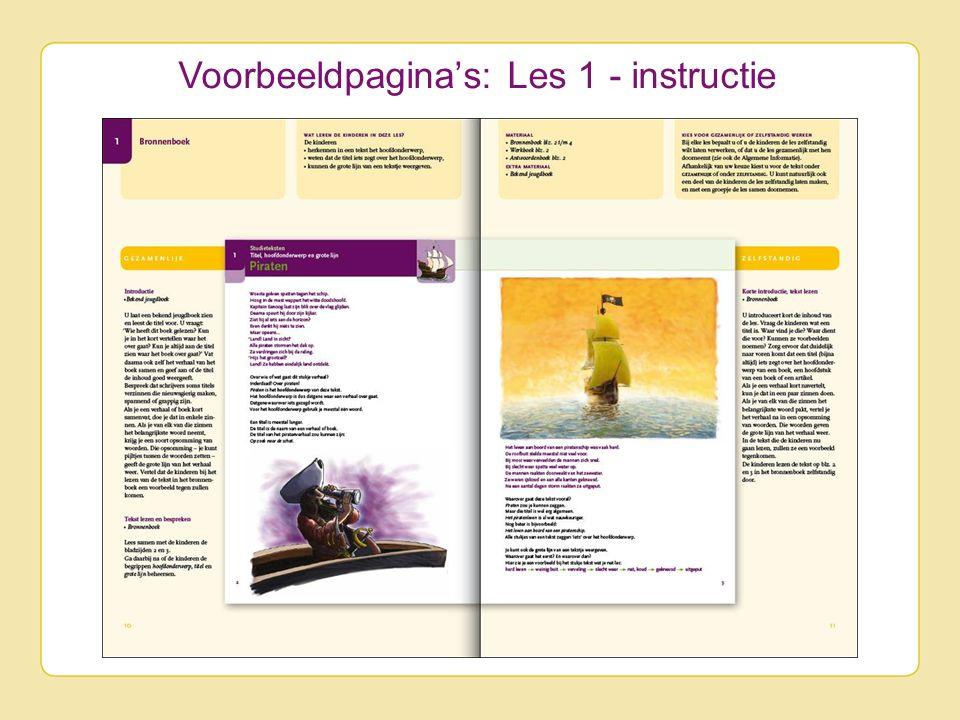 Voorbeeldpagina's: Les 1 - instructie