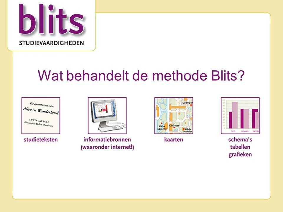 Wat behandelt de methode Blits