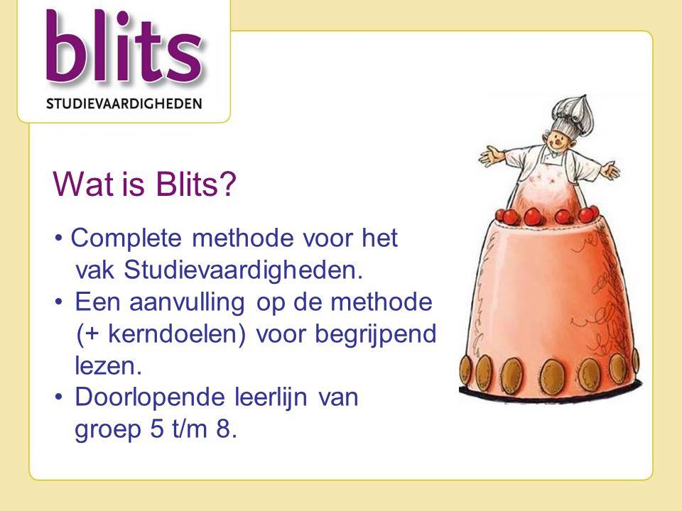 Wat is Blits. Complete methode voor het vak Studievaardigheden.