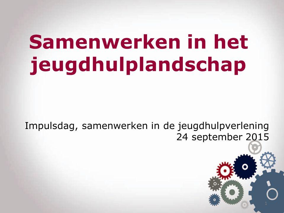 1 Impulsdag, samenwerken in de jeugdhulpverlening 24 september 2015 Samenwerken in het jeugdhulplandschap