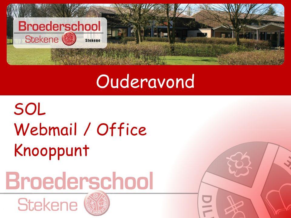 SOL-inloggen  www.broeders.schoolonline.be www.broeders.schoolonline.be  Via de website: www.stekene.broeders.bewww.stekene.broeders.be