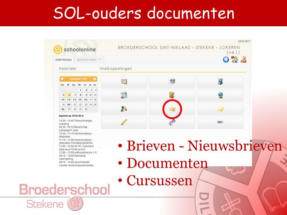 SOL-ouders documenten Brieven - Nieuwsbrieven Documenten Cursussen