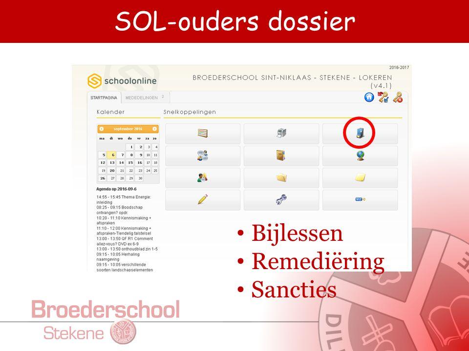 SOL-ouders dossier Bijlessen Remediëring Sancties