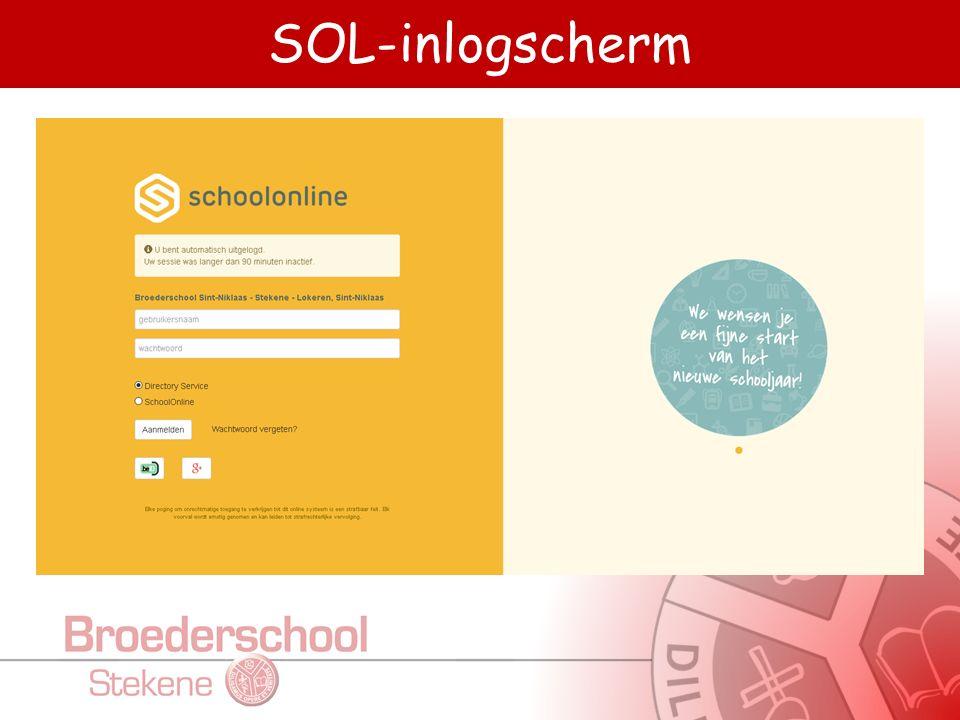 SOL-inlogscherm
