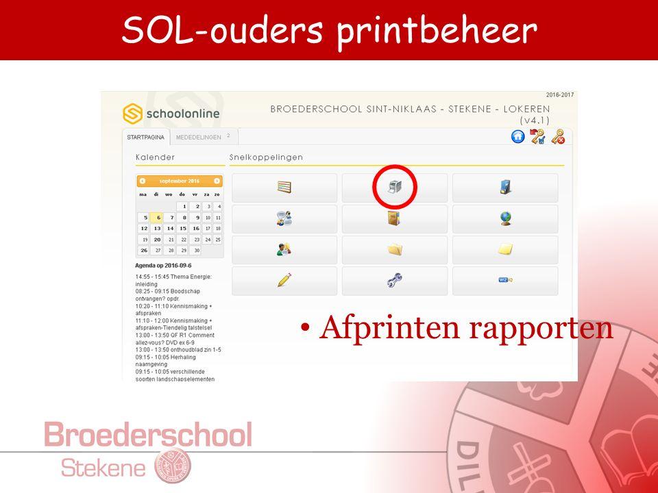 SOL-ouders agenda Agenda Toetsen – Taken Kalender