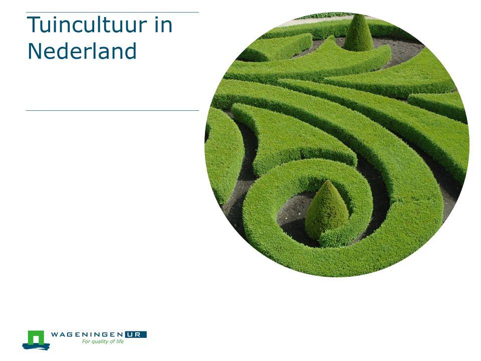 Tuincultuur in Nederland