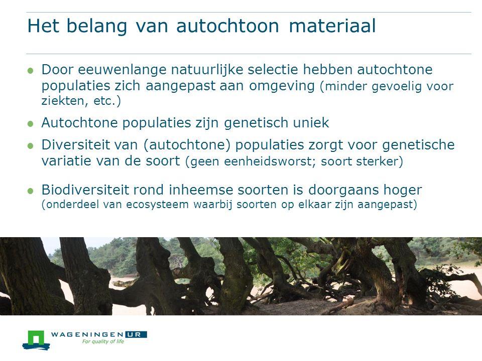 In Nederland voor elk wat wils Functie van beplanting speelt essentiële rol Wel met zinvolle argumenten Richtlijn: uitheemse soorten vooral in cultuurgroen (in de stad); inheemse soorten in natuurgroen Keuze inheems en/of uitheems aan de gebruiker